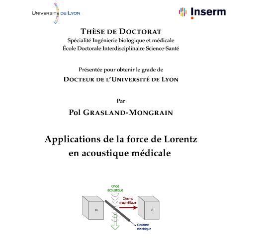 Page de garde du manuscrit de thèse